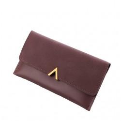 Purpurowyelegancki damski skórzany portfel -