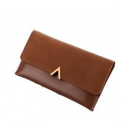 Brązowyelegancki damski skórzany portfel -