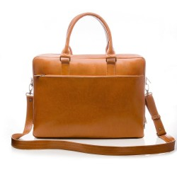 Elegancka torba na laptop z wysokiej jakości skóry naturalnej -