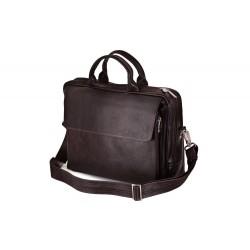 Pojemna torba na laptop z włoskiej skóry naturalnej -