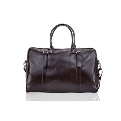 Elegancka męska skórzana brązowa torba podróżna S16 - nieodłącznym elementem mężczyzny podczas służbowej podróży, weeken