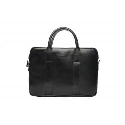 Czarna skórzana męska torba na laptopa SL20 - nieodłącznym elementem mężczyzny podczas służbowego spotkania z laptopem.