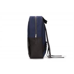 Granatowo-brązowy elegancki plecak męski FORRES - coraz częściej spotykany wygodny i pojemny dodatek garderoby. Plecak w