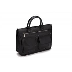 Męska teczka na laptopa Solier GALSTON jest modnym i praktycznym elementem codziennej męskiej stylizacji -
