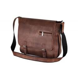Brązowa torba męska na ramię do pracy S12 - MUST-HAVE podczas studiów czy pracy w biurze. Idealne wymiary pozwalają na p