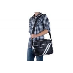 Lekka pojemna skórzana męska torba na ramię - czyli wygodne przenoszenie małego laptopa lub tabletu oraz dokumentów. Sze