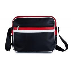 Sportowa miejska męska skórzana torba na ramię MS1 - czyli wygodne przenoszenie małego laptopa lub tabletu oraz dokument