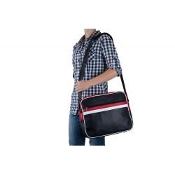 Młodzieżowa skórzana torba miejska na ramię MS1 - czyli wygodne przenoszenie małego laptopa lub tabletu oraz dokumentów.