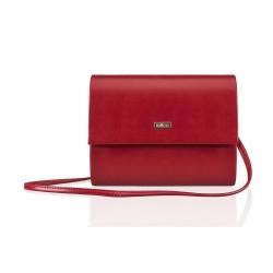 Czerwona matowa kopertówka wieczorowa F14, która jest totalnym MUST-HAVE każdej eleganckiej kobiety. Idealnie dopełnia k