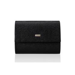 Elegancka czarna z brokatem kopertówka F14, która jest totalnym MUST-HAVE każdej eleganckiej kobiety. Idealnie dopełnia