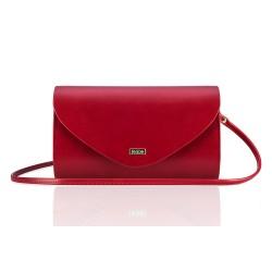 Czerwona matowa elegancka kopertówka F15 - perfekcyjna na wieczorne spotkania z znajomymi, eleganckie imprezy, sylwestra