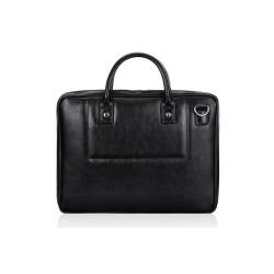 Skórzana, kompaktowa męska torba na laptopa. -