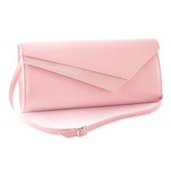 Ciemno różowa lakierowana kopertówka damska F17 - idealna na cudownego sylwestra, wesele czy imprezę wieczorną. Dzięki i