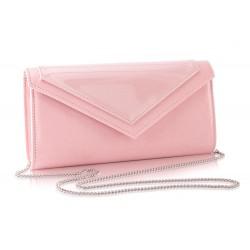 Ciemno różowa kopertówka damska z łańcuszkiem F18 - idealna na cudownego sylwestra, wesele czy imprezę wieczorną. Dzięki