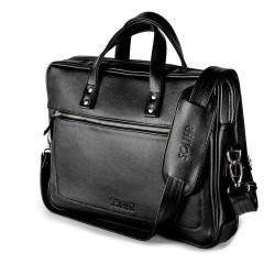 Ekskluzywna męska skórzana torba na laptopa SL04 - wykonana z solidnej skóry naturalnej w klasycznym pasującym do wszyst
