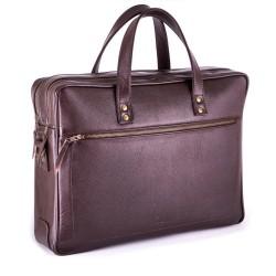 Ekskluzywna skórzana męska torba na laptopa SL05 - wykonana z solidnej skóry naturalnej, bardzo pojemna i w klasycznym p