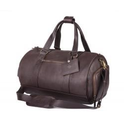 Brązowa skórzana solidna torba weekend siłownia SL19 - wykonana z solidnej skóry naturalnej, bardzo pojemna nadająca się