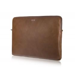Brązowe skórzane etui na laptopa 15 cali SA23A - elegancki dodatek dla chcącej ochronić swój laptop przed uszkodzeniem w