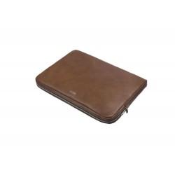 Brązowy skórzany pokrowiec na laptopa 13 cali SA23 - elegancki dodatek dla chcącej ochronić swój laptop przed uszkodzeni