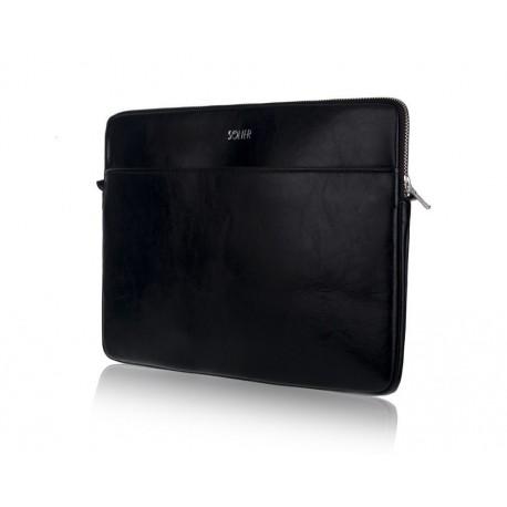 Czarny solidny pokrowiec na laptopa 15 cali SA24A - elegancki dodatek dla chcącej ochronić swój laptop przed uszkodzenie