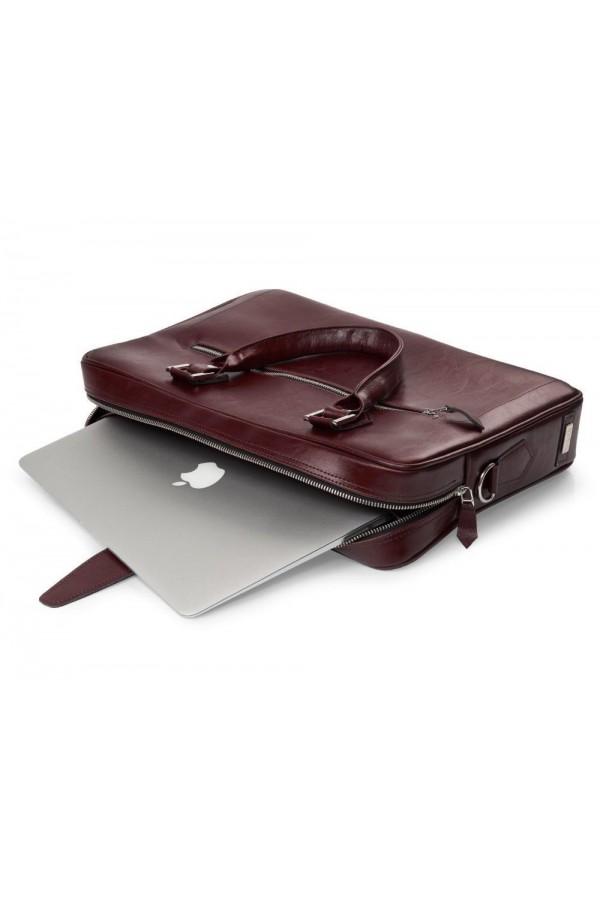 Skórzana torba na laptop z uchwytem na walizkę SL23 - czyli funkcjonalna torba, którą musisz posiadać. Wykonana z trwałe