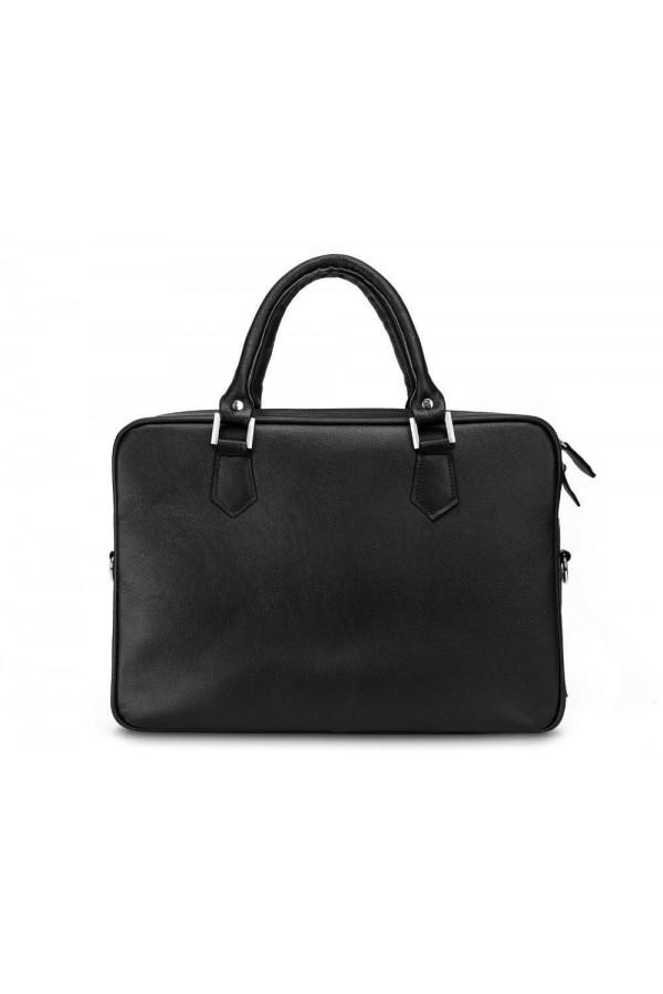 Skórzana czarna męska torba na laptopa SL22 - czyli funkcjonalna torba, którą musisz posiadać. Wykonana z trwałej skóry