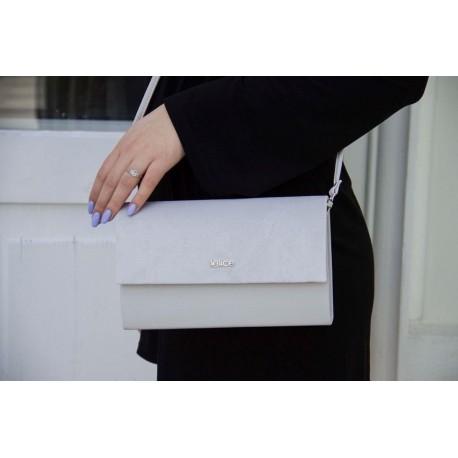 Klasyczna, elegancka kopertówka damska. -