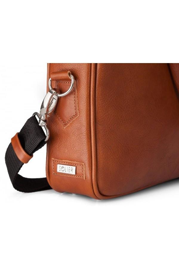 Skórzana elegancka męska torba na laptopa SL22 - czyli funkcjonalna torba, którą musisz posiadać. Wykonana z trwałej skó