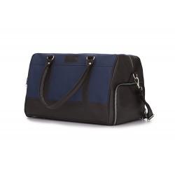 Sportowa torba skórzana męska weekendowa S18 - powinna być i w Twojej garderobie. Sportowy wyraz, klasyczne materiały i