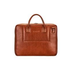 Elegancka męska skórzana torba na laptopa SL21 - jest męską torbą, która zachwyci Cie swoją solidnością i pojemnością. N