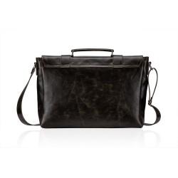 Skórzana brązowa męska torba vintage na ramię S25 - jest idealnym dodatkiem w drodze do pracy czy studia. Wykonana jest