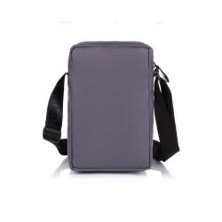 Męska materiałowa szara mała saszetka na ramię S35 - idealna do noszenia na co dzień. Małe listonoszki czy saszetki na r