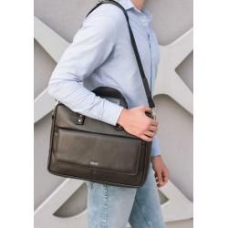 Męska skórzana torba na ramię do pracy S32 - dobrze wyglądająca torba męska z możliwością umieszczenia w niej laptopa. K