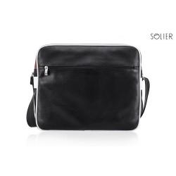 Klasyczna brązowa torba męska na ramię MS1 - czyli wygodne przenoszenie małego laptopa lub tabletu oraz dokumentów. Szer