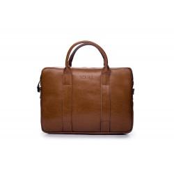 Skórzana męska torba na laptopa SL20 - nieodłącznym elementem mężczyzny podczas służbowego spotkania z laptopem. Torba z