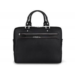 Skórzana, męska torba z miejscem na laptopa 13,3 cali oraz dodatkową kieszenią. -