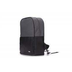 Szaro-czarny elegancki plecak męski FORRES - coraz częściej spotykany wygodny i pojemny dodatek garderoby. Plecak w ston