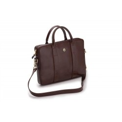Elegancka damska skórzana torba na laptopa Dulce - uniwersalna torba do pracy, na studia czy spotkanie biznesowe. Wykona