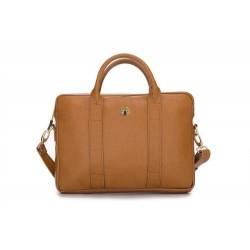 Solidna damska skórzana torba na laptopa Dulce - uniwersalna torba do pracy, na studia czy spotkanie biznesowe. Wykonana