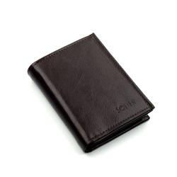 Elegancki portfel męski wykonany z włoskiej skóry naturalnej w orientacji pionowej to ten dodatek, który zachwyci każdeg