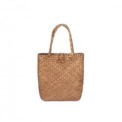 Słomiana torebka shopper - worek. Wykonana z słomy rattan idealna na plaże lub drobne zakupy -