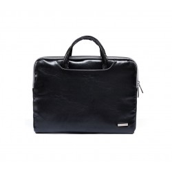Elegancka damska skórzana torba na laptopa lub tablet -