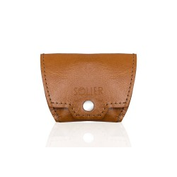 Jasno brązowa skórzana elegancka bilonówka SA10 - jeżeli masz już cienki portfel na karty i banknoty to możesz mieć czas