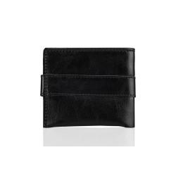 Cienki i mały skórzany portfel męski, który cechuje się niepowtarzalną wygodą użytkowania. Kilka miejsc na karty, miejsc
