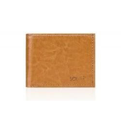 Elegancki pojemny skórzany portfel męski SW06 - Cienki i mały skórzany portfel męski, który cechuje się niepowtarzalną w