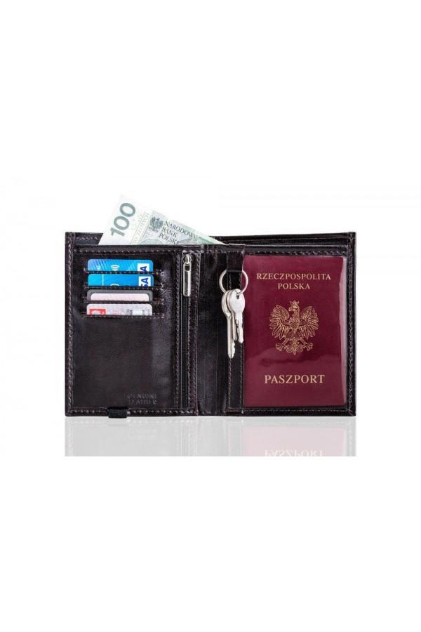 Portfel z miejscem na paszport i dokumenty SW07 - został zaprojektowany dla osób, które często podróżują. Portfel męski,