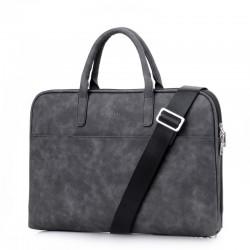 Nowoczesna damska skórzana torba na laptopa lub tablet -