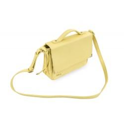 Damska zawsze modna listonoszka wykonana z skóry ekologicznej dostępna w pięknych dwóch pastelowych kolorach - żółtym or