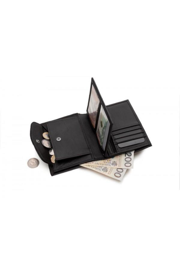 Funkcjonalny i gustowny męski portfel wykonany z najwyższej jakości skóry naturalnej. -