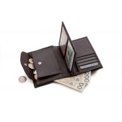 Klasyczny portfel męski wykonany w Polsce z skóry naturalnej. Portfel nie posiada zapięcia co umożliwi Ci szybki dostęp